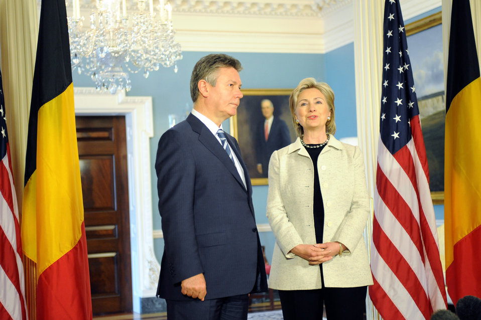 Secretary Clinton Meets With Belgian Prime Minister