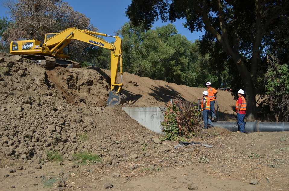 Inactive sewer line obstructing north Sacramento levee work