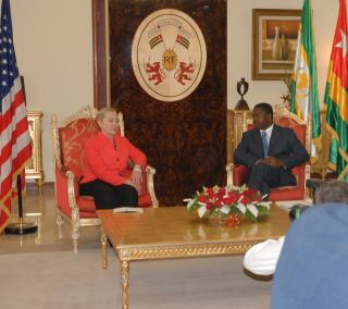 Secretary Clinton Meets With Togolese President Gnassingbe