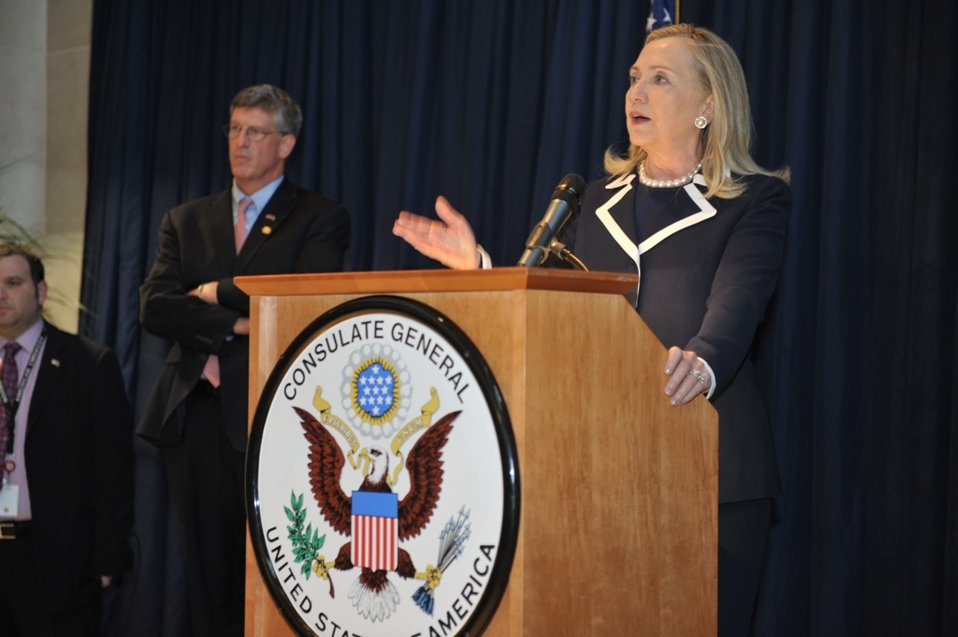 Secretary Clinton Delivers Remarks