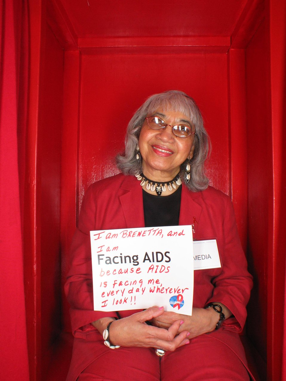 I'm Facing AIDS because AIDS is facing me every day wherever I look!!!