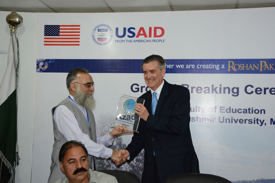 The United States Ambassador to Pakistan, Richard Olson broke ground for a U.S. funded construction of a new Faculty of Education building in Muzaffarabad, AJK.  29