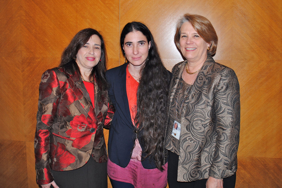 Yoani Sanchez With Under Secretary Sonenshine and Acting Ambassador Wiener