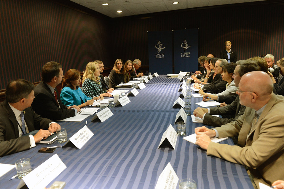 Secretary Clinton Delivers Remarks at the Global Philanthropy Working Group Launch