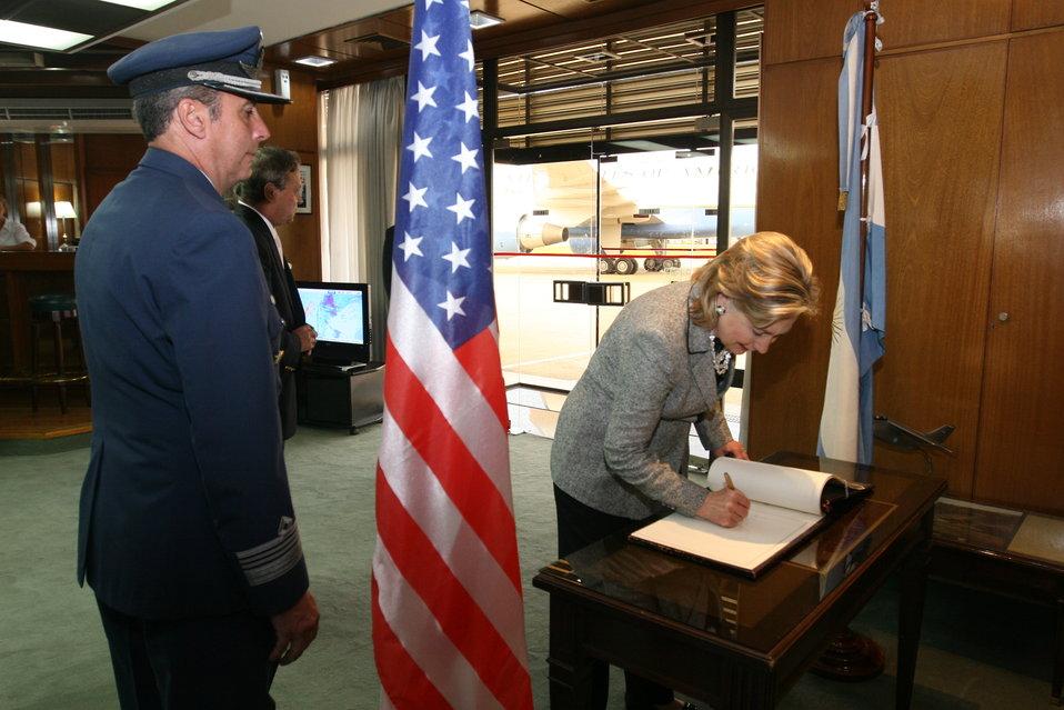 Secretary Clinton Visits Buenos Aires, Argentina
