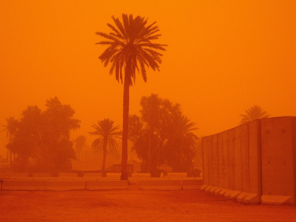 Dust Storm at Camp Ramadi in Anbar Province