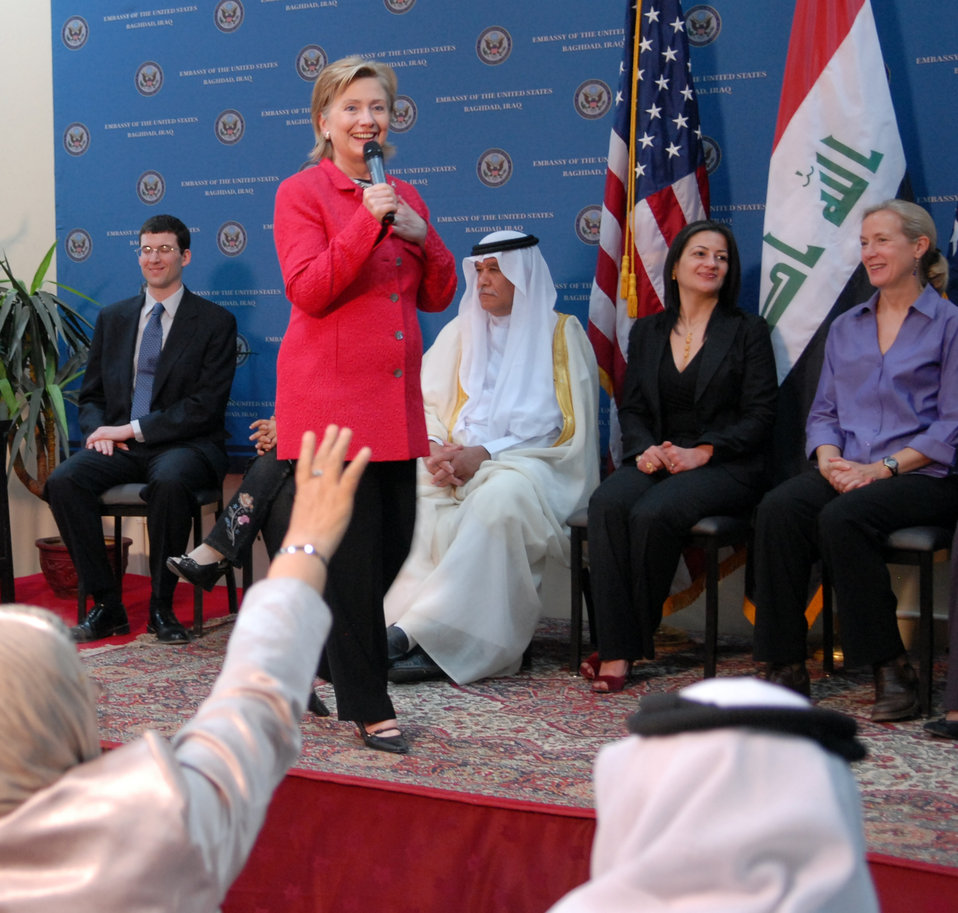 Secretary Clinton Town Hall Meeting in Baghdad