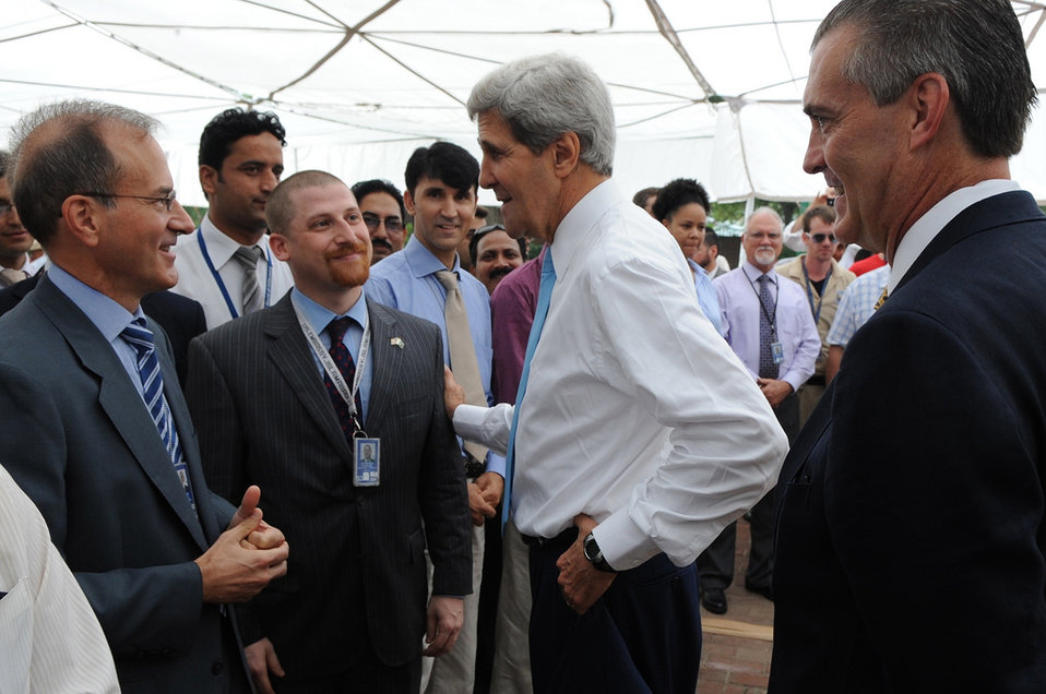 Secretary Kerry Greets Embassy Islamabad Employees