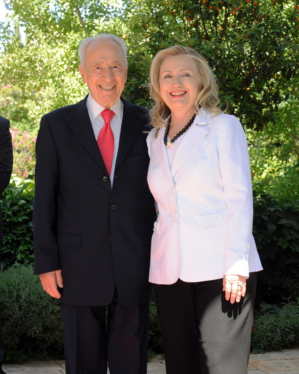 Secretary Clinton With Israeli President Peres