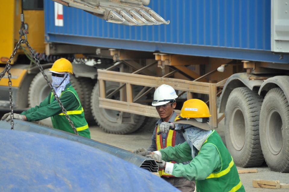 Site construction at the Environmental Remediation of Dioxin Contamination at Danang Airport