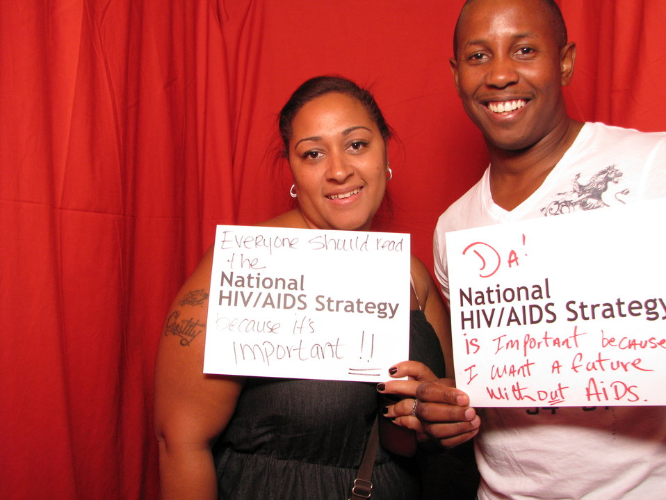 Everyone Should Read the National HIV/AIDS Strategy because it's Important! Da National HIV/AIDS Strategy is Important because I Want a Future Without AIDS.