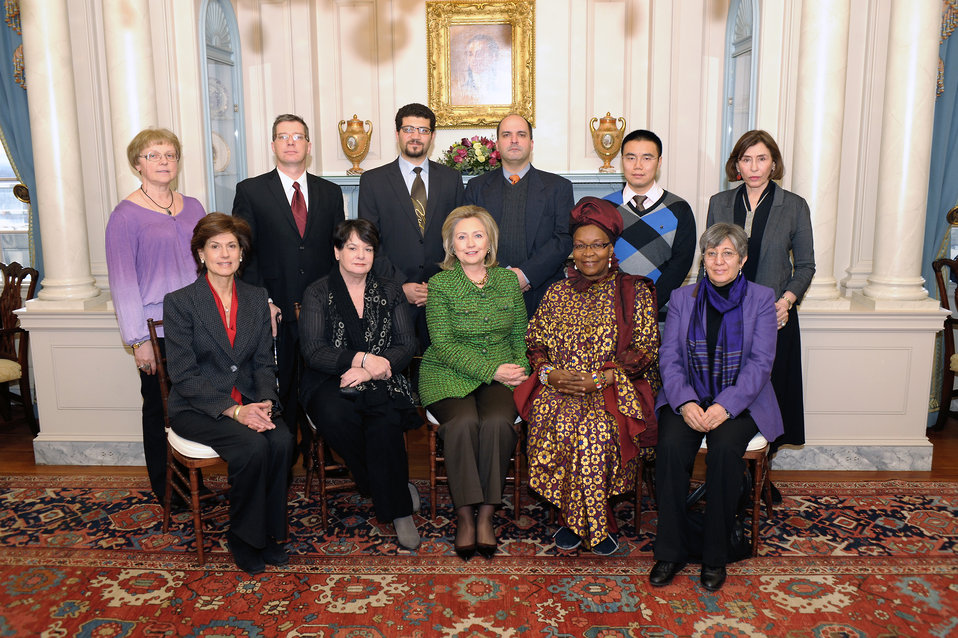 Secretary Clinton Poses for a Photo With Civil Society Activists