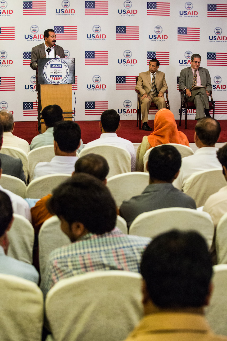 Islamabad, September 26 2012 - Ghulam Mustafa, Deputy Director, Gilgit Ministry of Agriculture, speaking at the event.