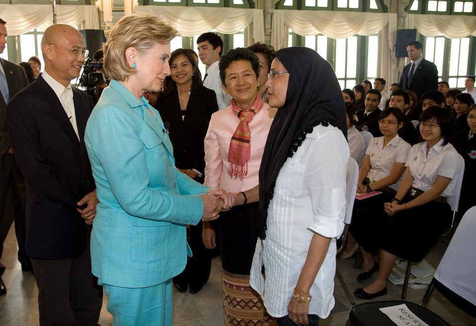 Secretary Clinton at Phyathai Palace