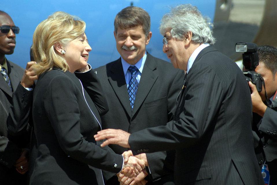 Secretary Clinton With Guatemalan Vice President Rafael Espada