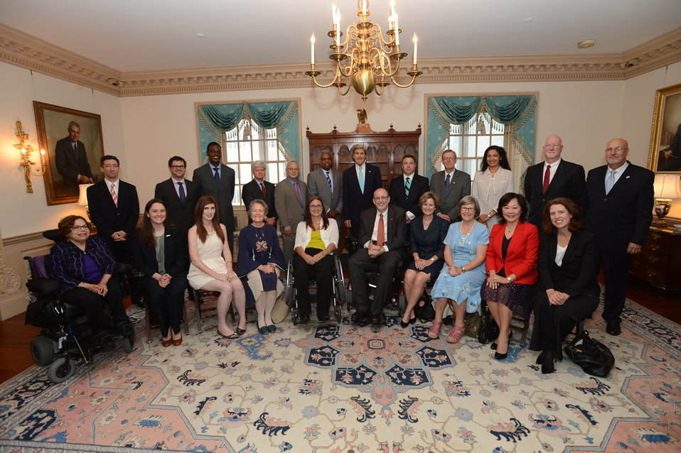 Secretary Kerry Meets With Business, Veteran, Faith and Disability Organization Leaders on the Convention on the Rights of Persons with Disabilities