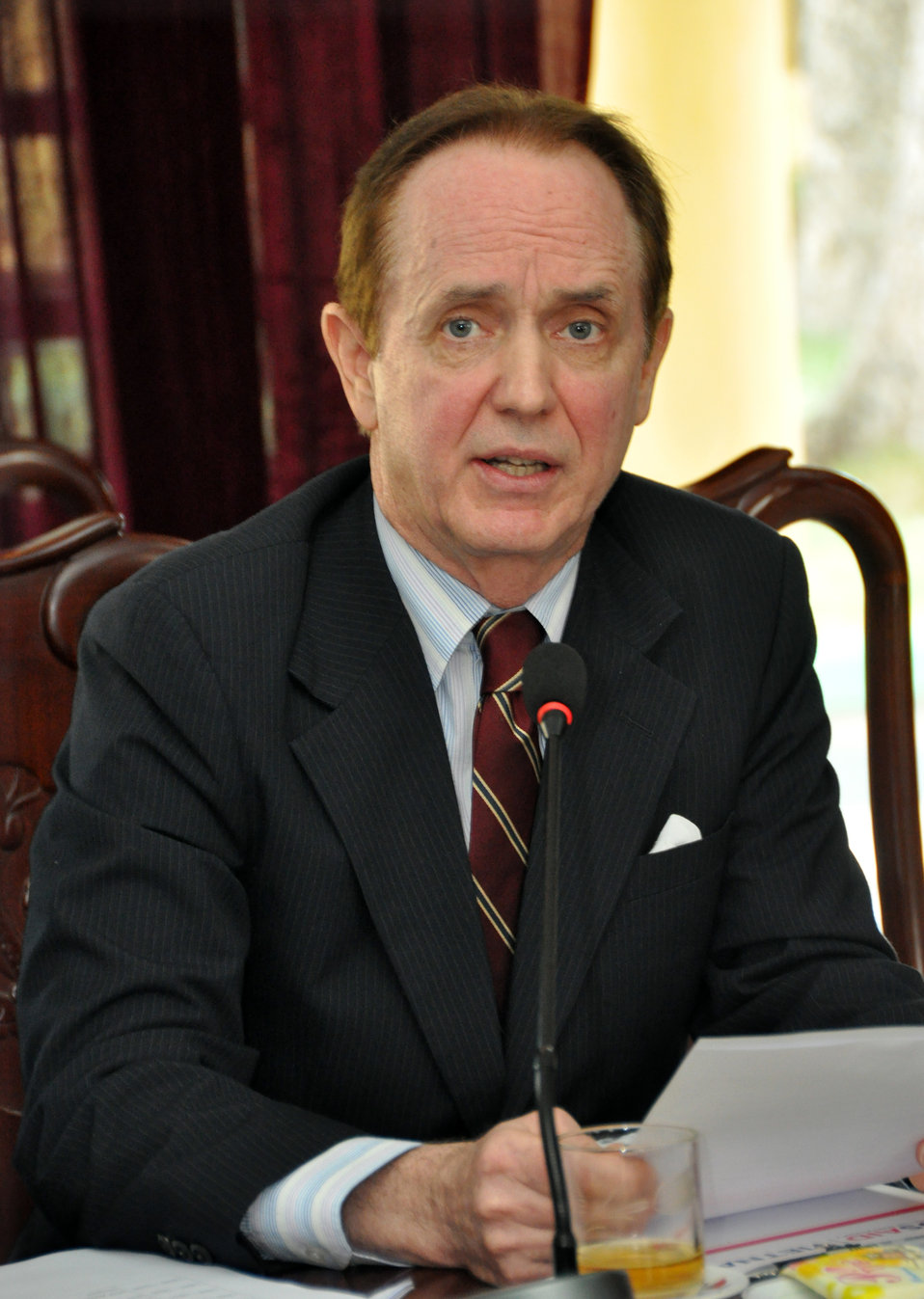 USAID Mission Director Francis Donovan