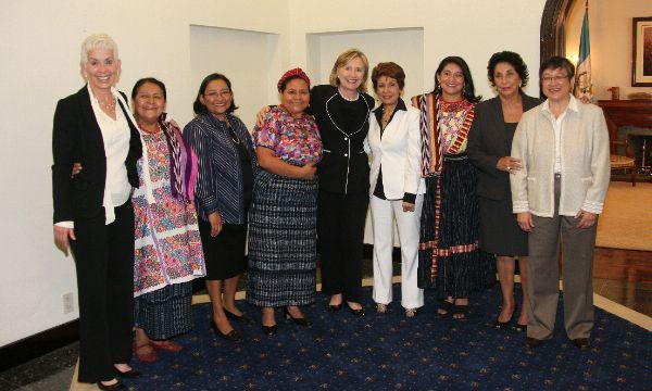 Secretary Clinton With Members of Vital Voices Guatemala