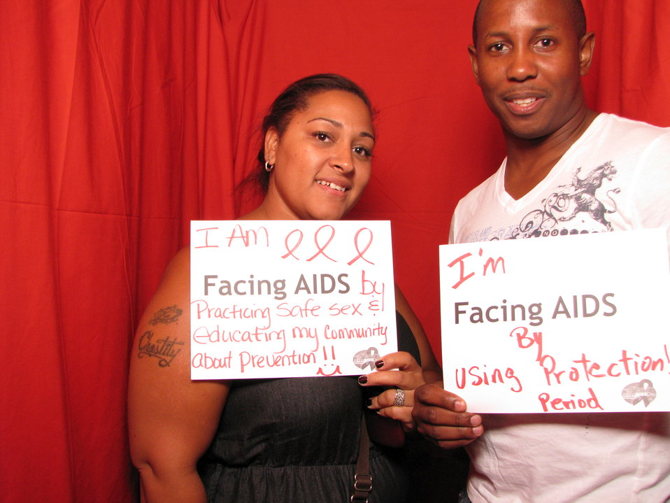 I am FACING AIDS by practicing safe sex and educating my community about prevention!! I'm FACING AIDS by using protection! Period.