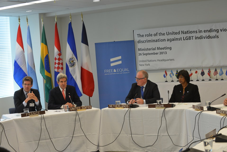 Secretary Kerry Participates in an LGBT Ministerial Event