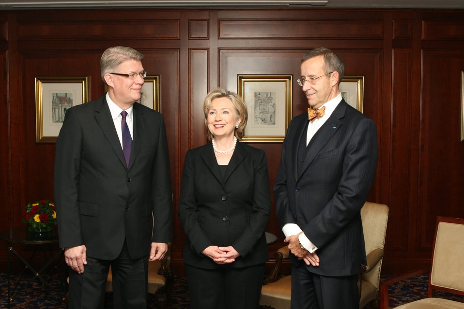 Secretary Clinton With Diplomats