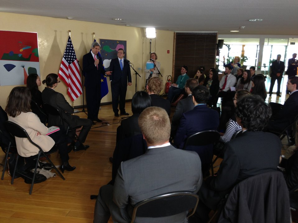 Secretary Kerry and President Barroso Speak to Youth