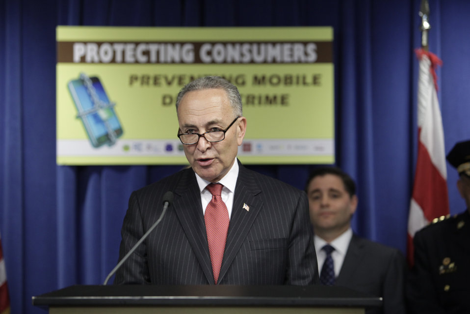 Senator (D-NY) Charles E. Schumer Speaks in Support