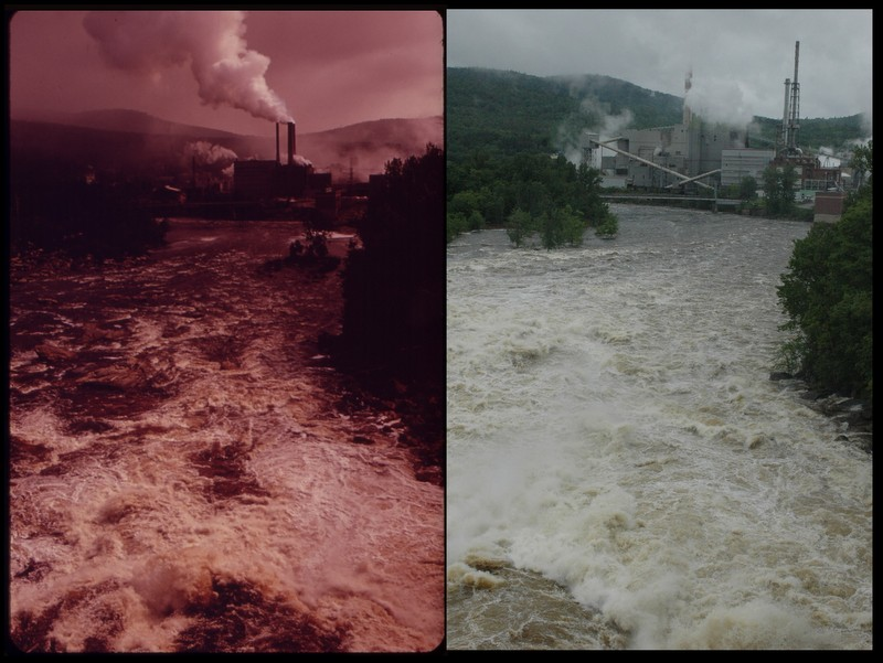 Androscoggin River, Rumford-Mexico, ME 1973 and 2012