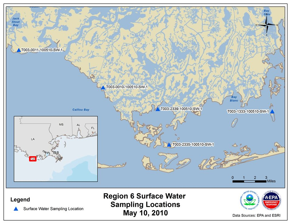 EPA Water Sampling Locations May 10, 2010