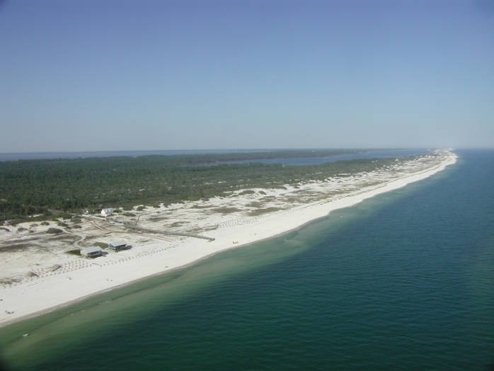 Coastline of the Bon Secour National Wildlife Refuge, Alabama Credit: Mike Reynolds