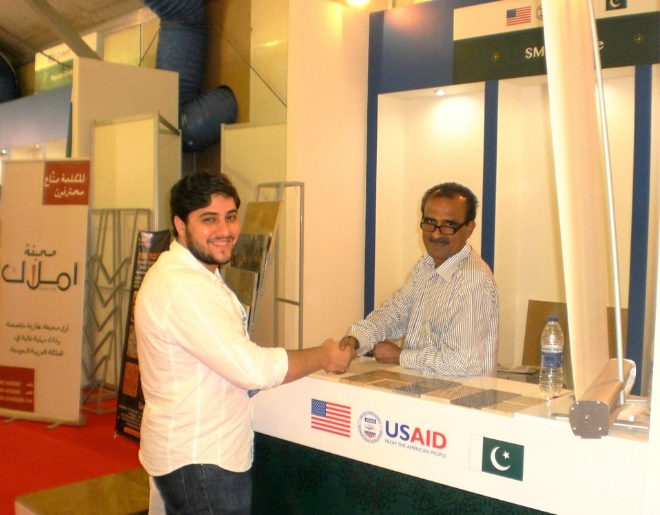USAID Firms Project Marble and Granite sector participates in the Big 5, largest construction of Saudi Arabia