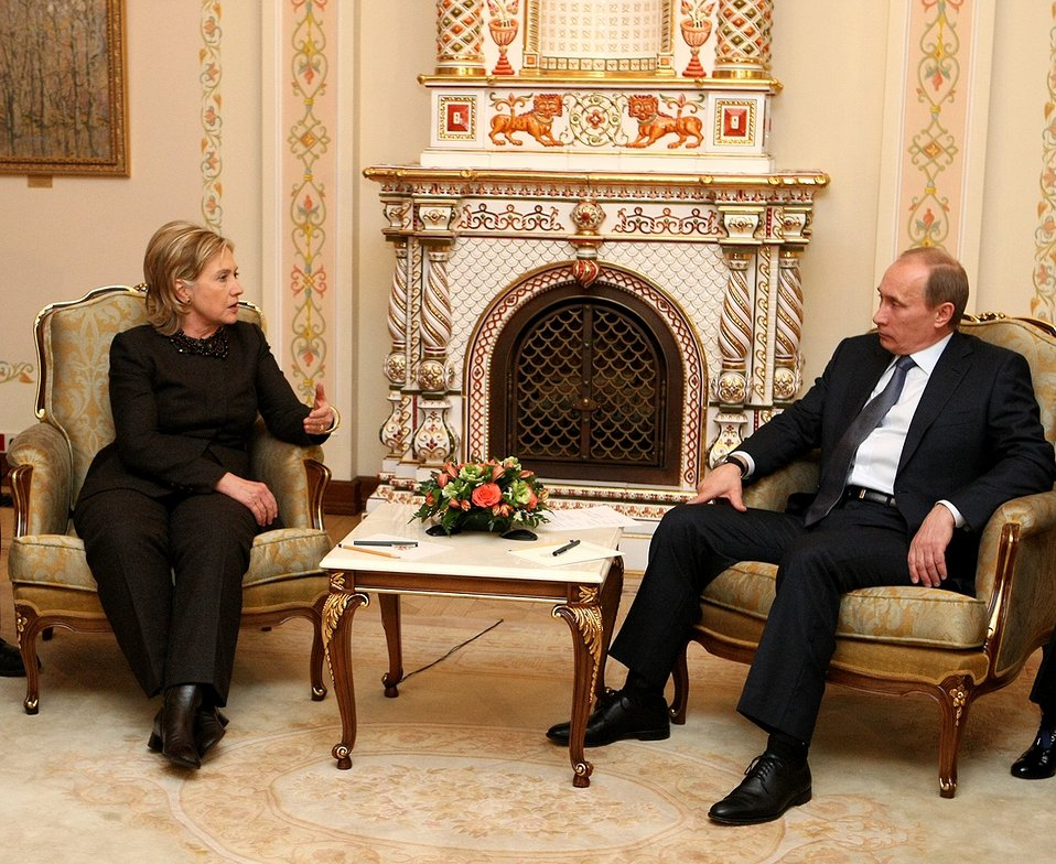 Secretary Clinton With Russian Prime Minister Putin