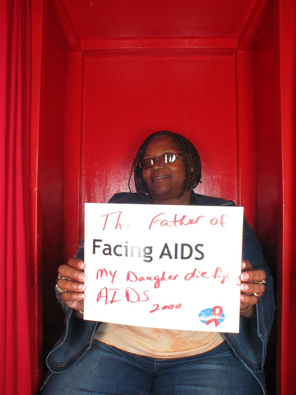 Facing AIDS The father of my daughter died of AIDS.