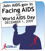 facing aids web badge white sign