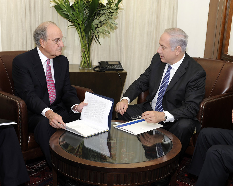 Special Envoy Mitchell Discusses Middle East Issues With Israeli Prime Minister Netanyahu
