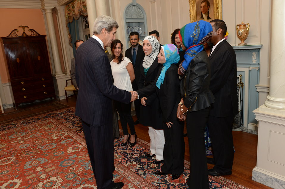 Secretary Kerry Meets With Invited Guests