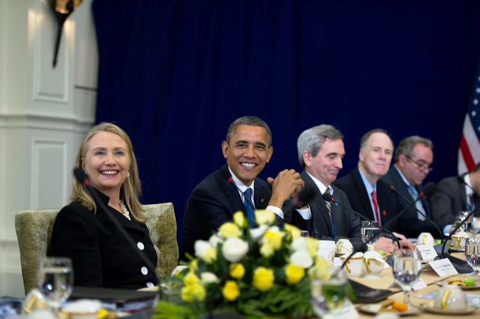 President Obama and Secretary Clinton Meet With Japanese Prime Minister Yoda