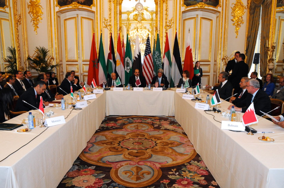 Secretary Kerry Hosts Arab Peace Initiative Meeting In Paris