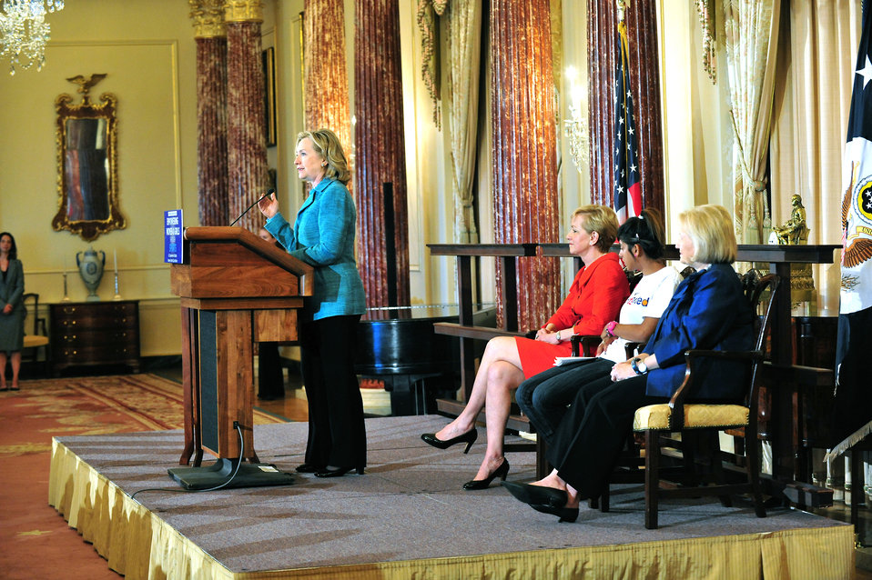 Secretary Clinton Launches the Women's World Cup Initiative and Marks the Kick-Off of the 40th Anniversary Year of Title IX