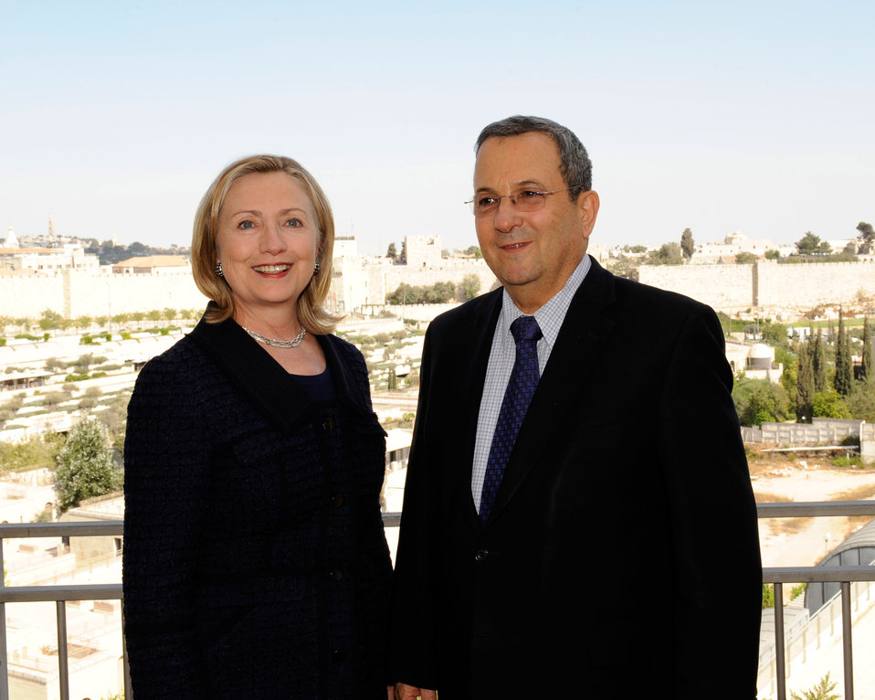 Israeli Defense Minister Barak Meets With Secretary Clinton