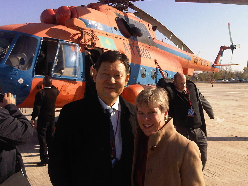 Assistant Secretary Gottemoeller and Kazakhstan Deputy Foreign Minister Umarov Arrive at Semipalatinsk Test Site
