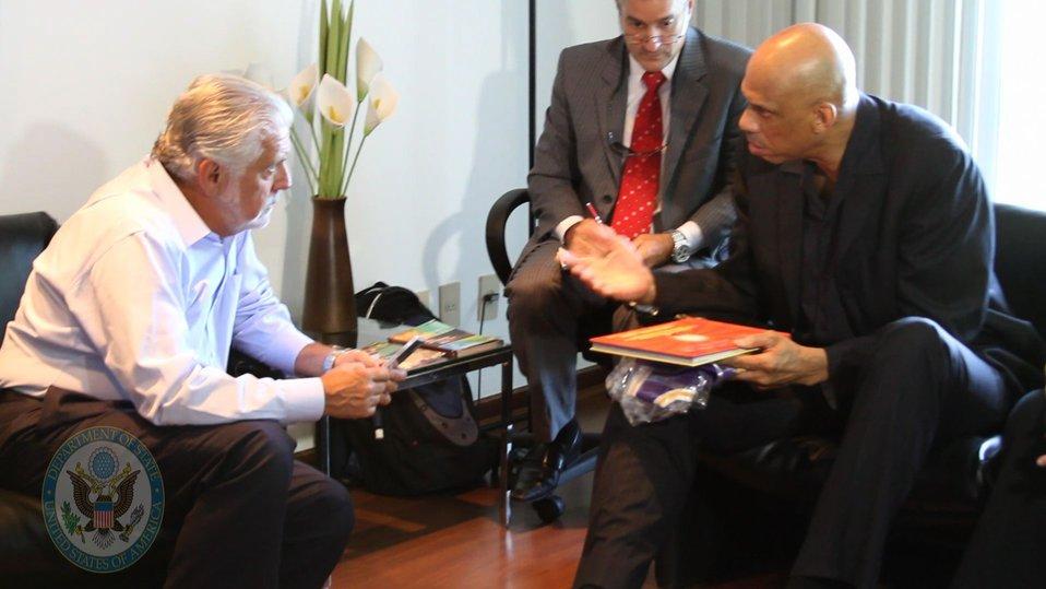 Cultural Ambassador Kareem Abdul-Jabbar Discusses Education