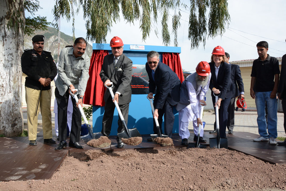 The United States Ambassador to Pakistan, Richard Olson broke ground for a U.S. funded construction of a new Faculty of Education building in Muzaffarabad, AJK.  30