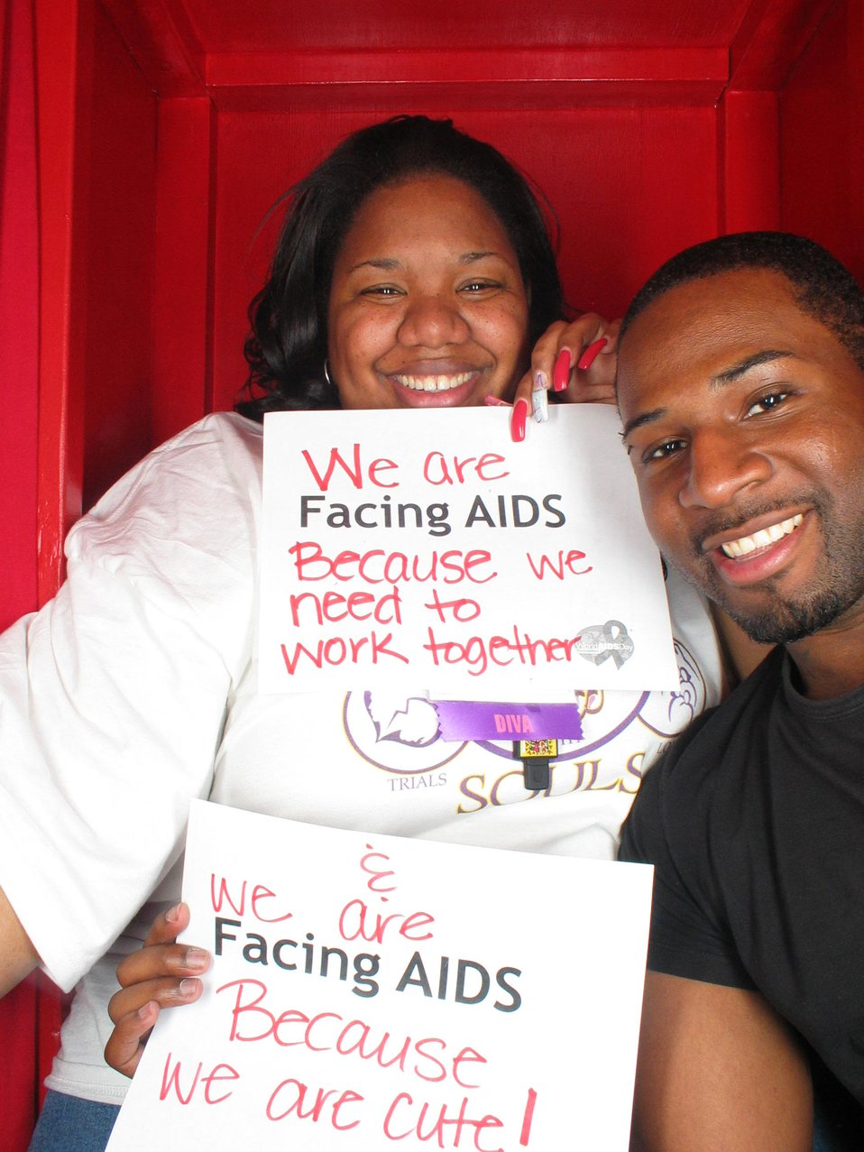 We are Facing AIDS because we need to work togehter and we are Facing AIDS because we are cute!