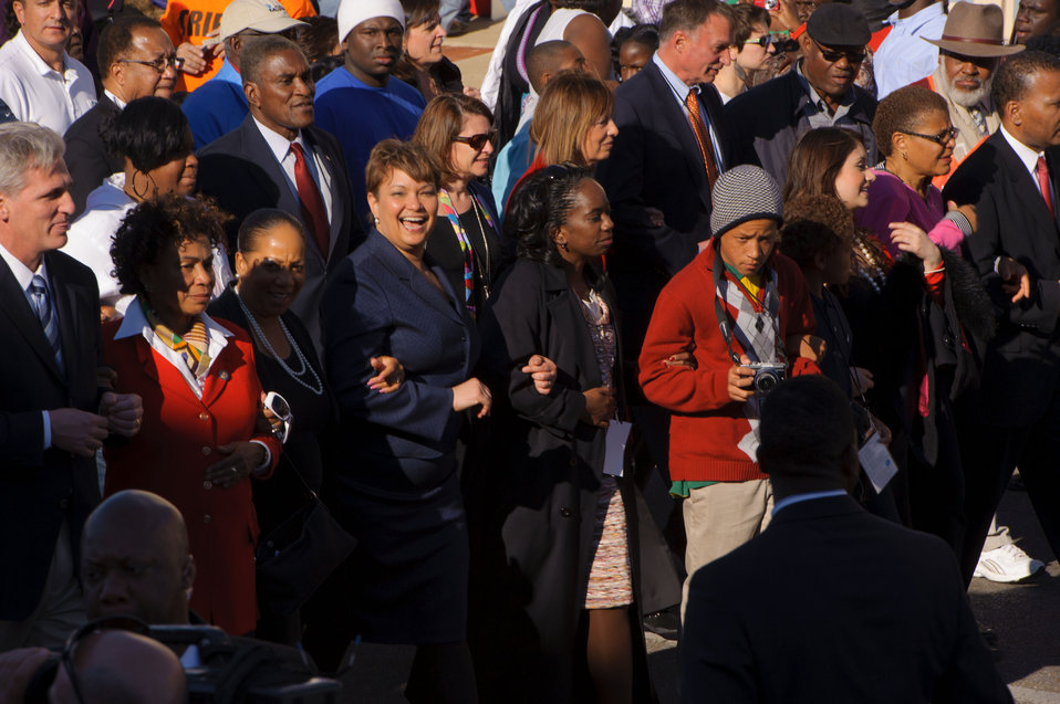 March 4, 2012 Administrator Lisa P. Jackson joins community leaders on historic walk across Edmund Pettus Bridge in Selma, Alabama