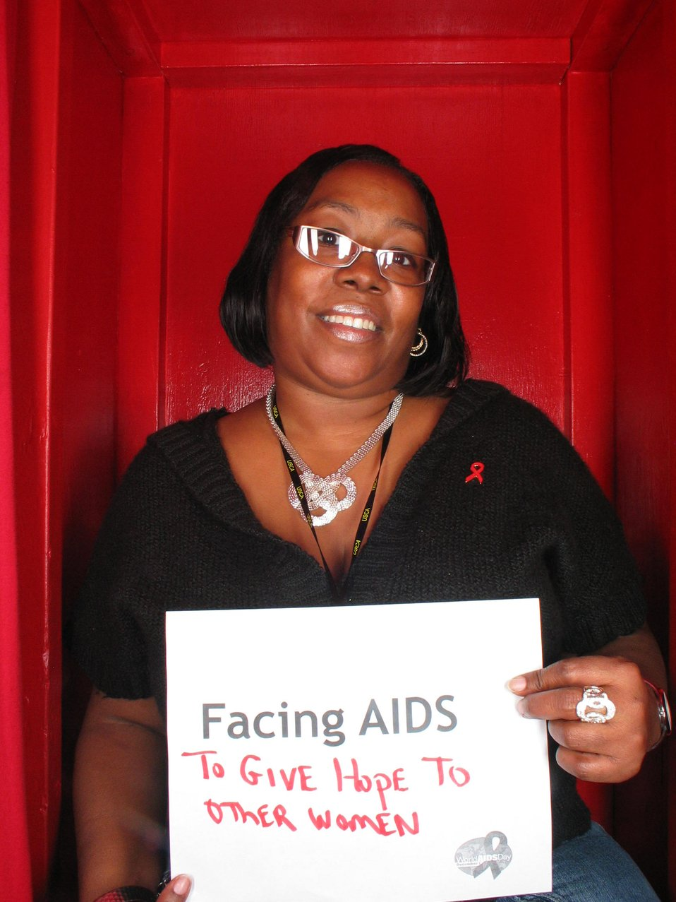 Facing AIDS to give hope to other women