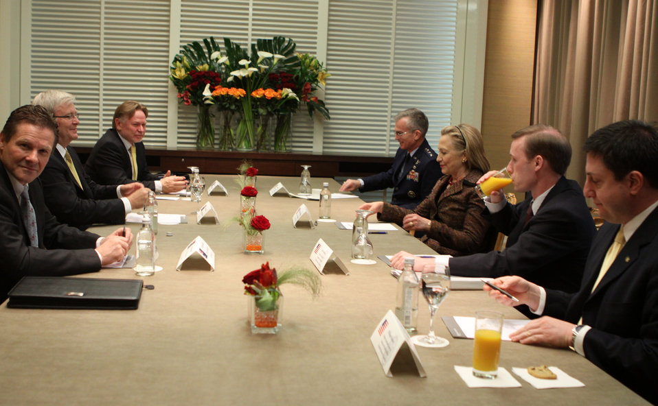 Secretary Clinton Holds a Bilateral Meeting With Australian Foreign Minister Rudd