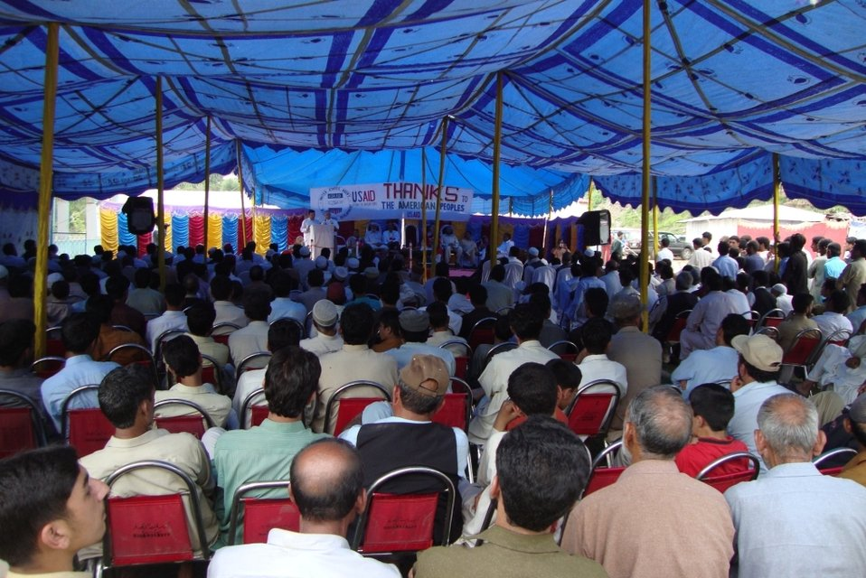 Audience at groundbreaking ceremony