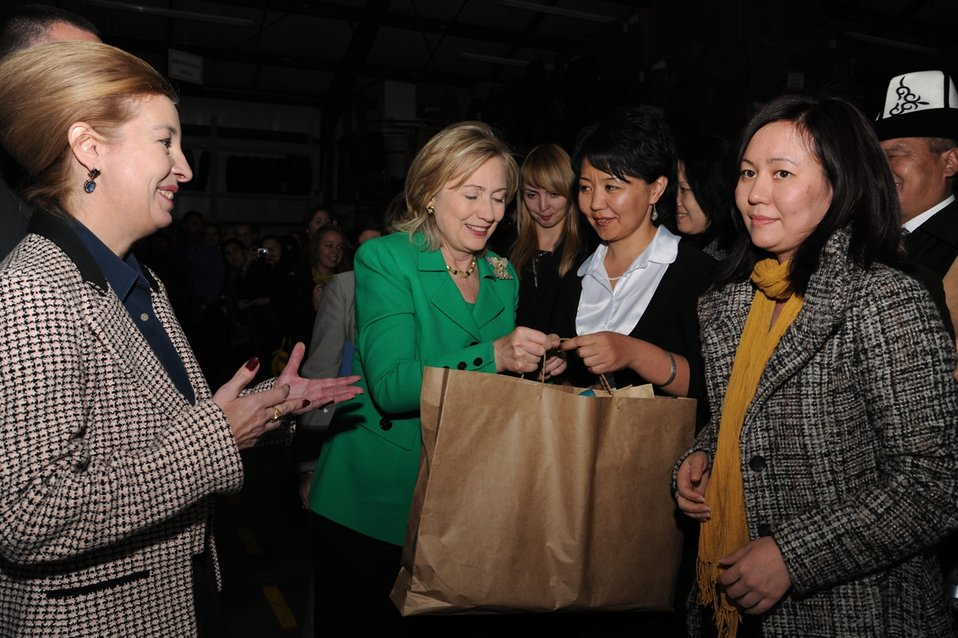 Secretary Clinton Receives a Gift