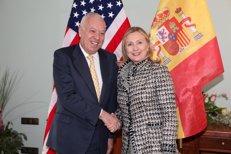 Secretary Clinton Meets With Spanish Foreign Minister Garcia-Margallo